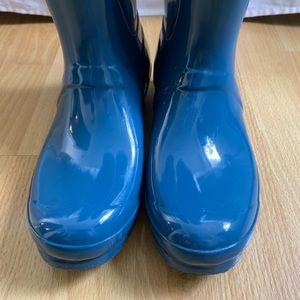 Hunter Shoes - AQUA BLUE HUNTER BOOTS ADJUSTABLE BACK